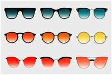 Sunglasses Set. Trendy Sunglas...