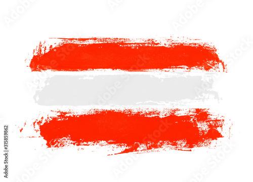 Photo Unordentliche handgemalte Flagge: Österreich