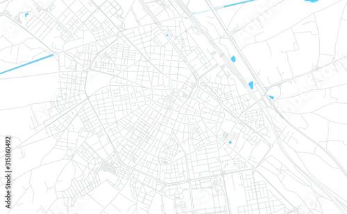 Albacete, Spain bright vector map