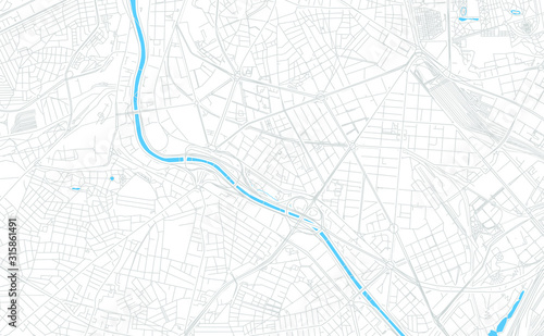Arganzuela, Spain bright vector map Canvas Print