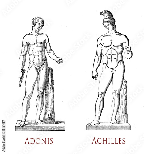 Photo Greek male beauty: musculature and grace of the male form as in the classical st