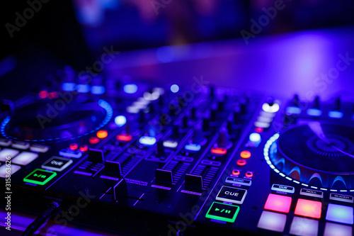 Fotografie, Obraz  closeup view of a DJ's mixing desk