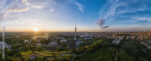 Olympiapark München am Abend