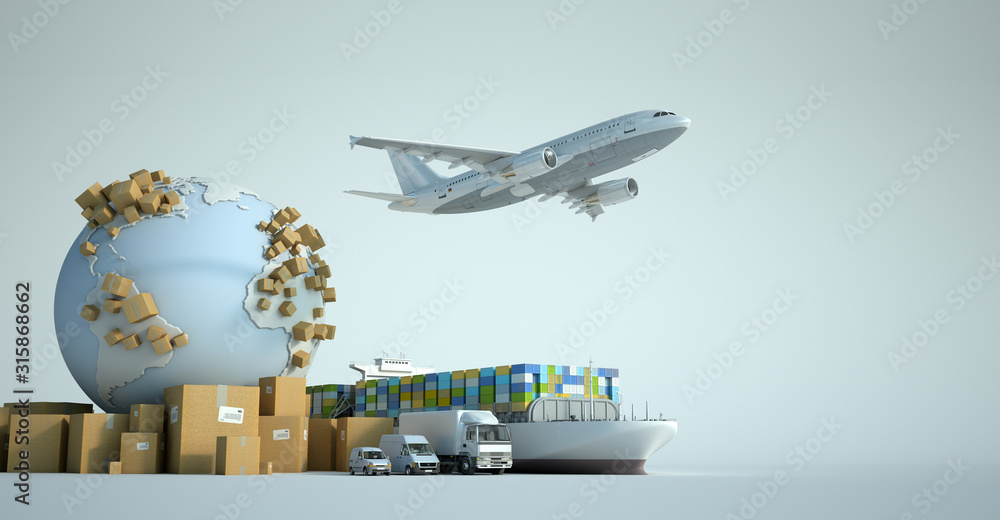 Fototapeta Global transportation industry