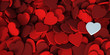 canvas print picture - Red hearts background with a white one