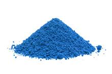 Pile Of Blue Powder, Isolated ...