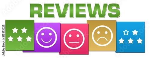 Obraz na plátně Reviews Symbols Professional Colorful