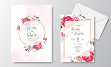 Beautiful Floral Wedding Invit...