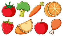 Set Of Different Types Of Frui...