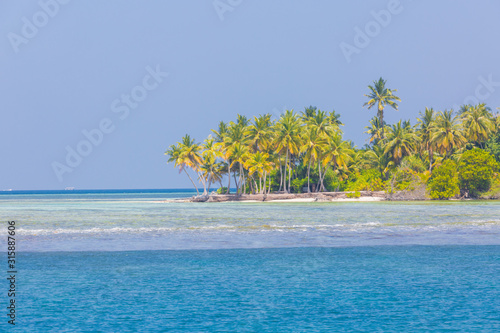 Fototapeta  Fantastic tropical beach landscape, exotic scenery