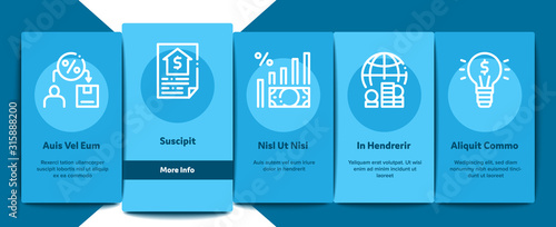 Fototapeta Investor Financial Onboarding Mobile App Page Screen Vector. Investor With Money Dollar And Lightbulb, Brain With Percentage Mark And Document Concept Linear Pictograms. Color Contour Illustrations obraz