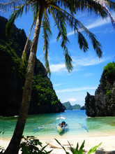 Paradise In A Deserted Cove In EL Nido, Palawan, The Philippines