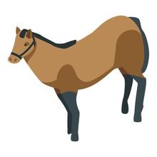 Horse Animal Icon. Isometric Of Horse Animal Vector Icon For Web Design Isolated On White Background