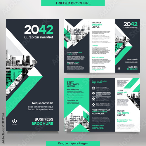 Canvastavla Business Brochure Template in Tri Fold Layout