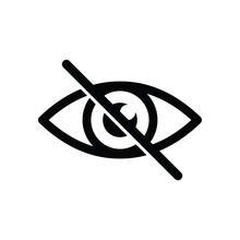 No Eye Icon. Avoid Eye Contact.