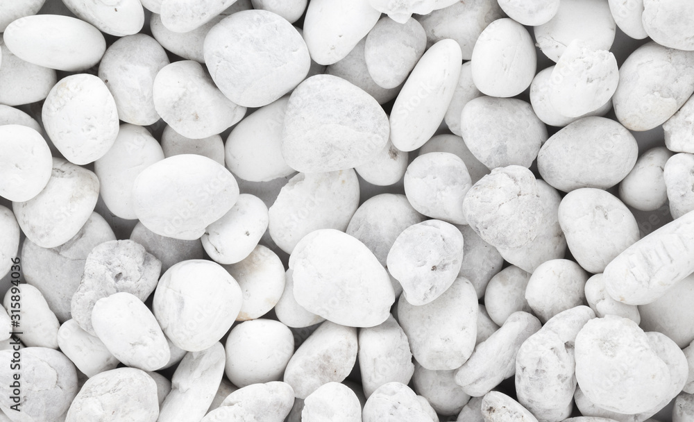 Fototapeta white pebble stone background