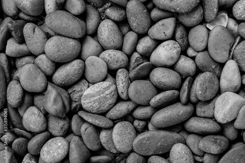 black pebble stone background  - 315894065