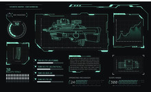 Game Interface With Futuristic...