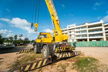 Yellow Automobile Crane With R...