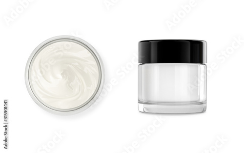 Stampa su Tela Cosmetic pot with body, face cream