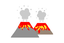 Erupting Lava And Volcanic Ga...