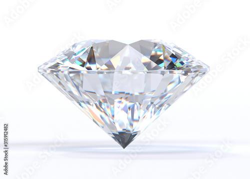 Fototapeta Diament  diamond-isolated-on-white-background