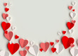 canvas print picture - Valentines day hearts 3d rendering