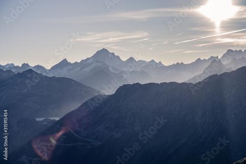 Photo Ausblick Schweizer Alpen