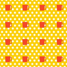Seamless Pattern Of Cup With P...