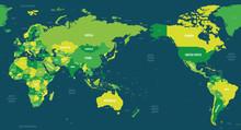 World Map - Asia, Australia An...