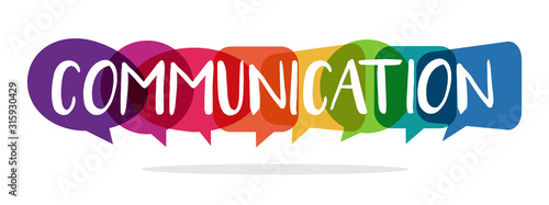 Fotomural communication concept with speech bubbles, vector illustration