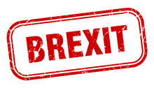 Brexit Stamp. Brexit Square Gr...