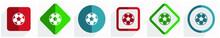 Soccer Icon Set, Flat Design V...