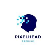 Pixel Head Digital Think Logo ...