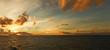 canvas print picture - Abend auf dem Atlantik