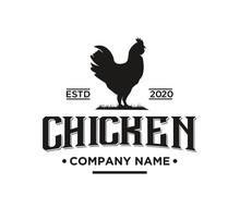 Rooster Chicken Vintage Logo, ...
