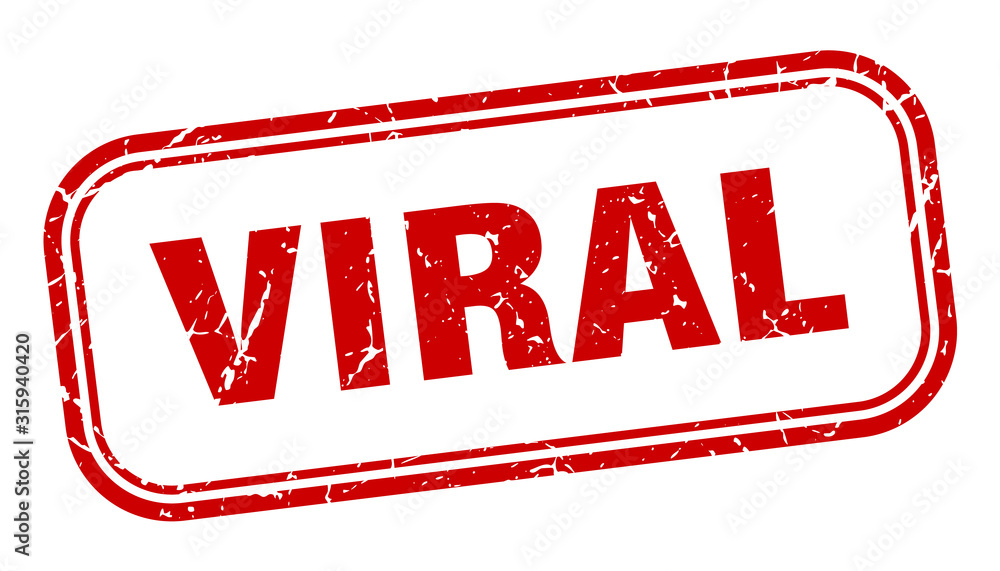 Fototapeta viral stamp. viral square grunge red sign