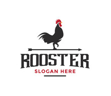 Rooster Silhouette Vector Illu...