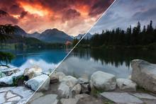 Beautiful Mountain Lake In Nat...