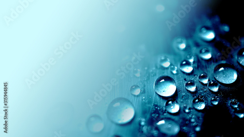 Obraz vivid blue water drop texture background for cold , freshness and drinking concept - fototapety do salonu