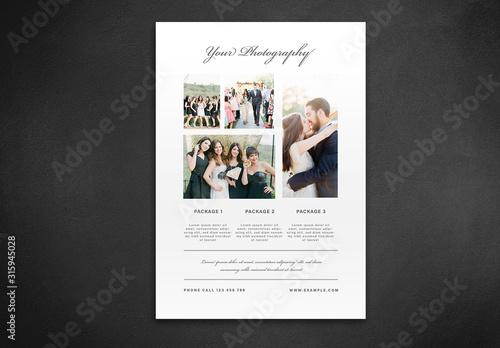 Fototapeta Flyer Layout with Cursive Text Elements obraz