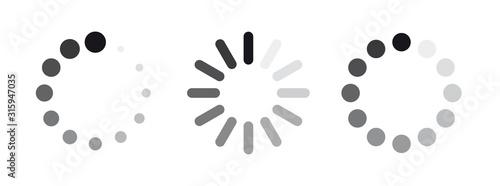 Fotografía set of loading icons. load. load bar icons