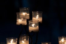 Votive Candles Inside A Church...