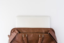 Brown Business Leather Briefca...