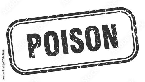 Fotografía poison stamp. poison square grunge black sign