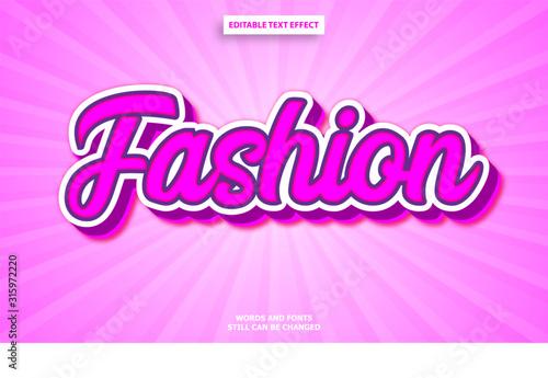 Obraz Fashion graffiti editable text effect - fototapety do salonu