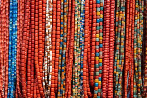 Lot of nice ukrainian traditional handcraft beads Wallpaper Mural