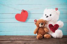 Teddy Bear With Red Heart On O...