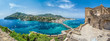 Leinwandbild Motiv Landscape with Porto Ischia, view on Aragonese Castle, Ischia island, Italy