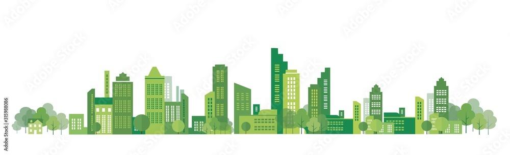 Fototapeta cityscape illustration